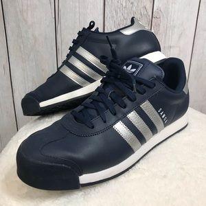 Adidas Mens Size 10 Samoa B38953 Navy & Silver